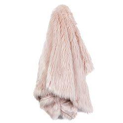Alpine Fur Dusty Pink Throw  - Home Republic