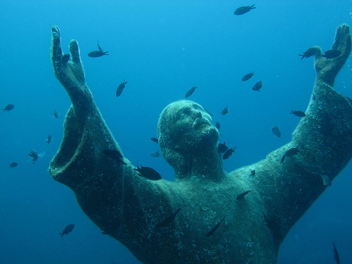 Christ of the Abyss | Atlas Obscura (on the way to Florence)