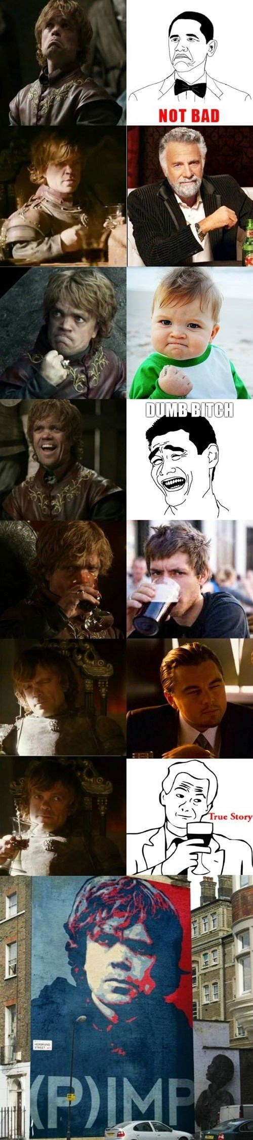 The meme faces of Peter Dinklage