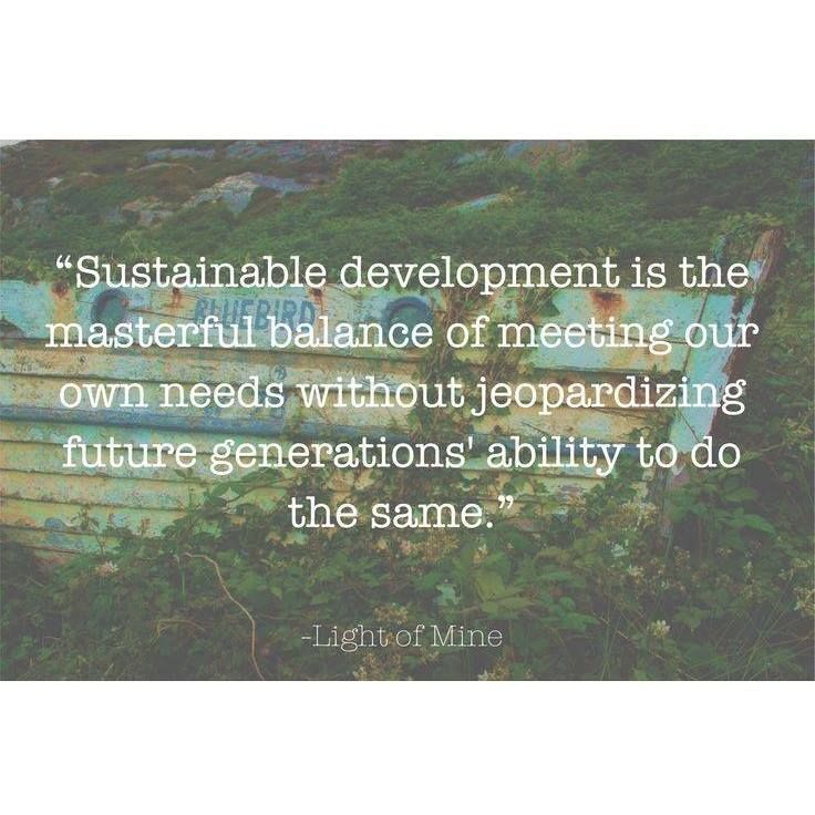 Quot Sustainable Development Is The Masterful Balance Of