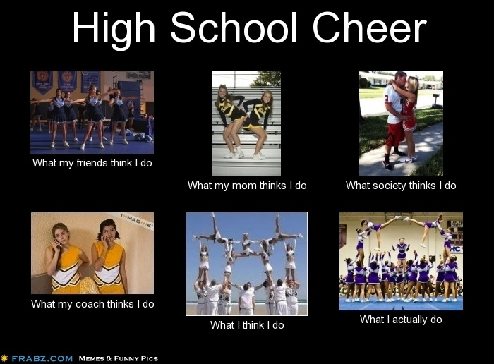 High School Cheerleading! Most would say this is very accurate!