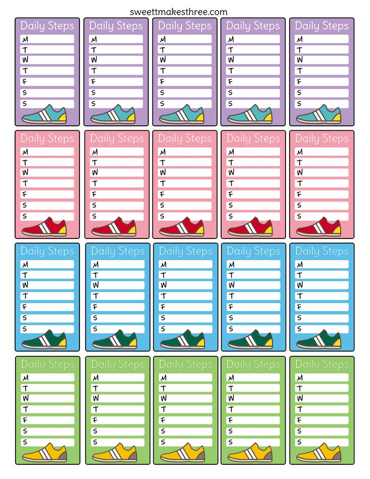 Fitbit users rejoice. Here are some free planner stickers to help you keep track of your daily steps. Just print and cut! They're perfect for the vertical margin of your Erin Condren Life Planner. Click here or on the image below to print. Not your style? Still need something to track your steps? Check out …