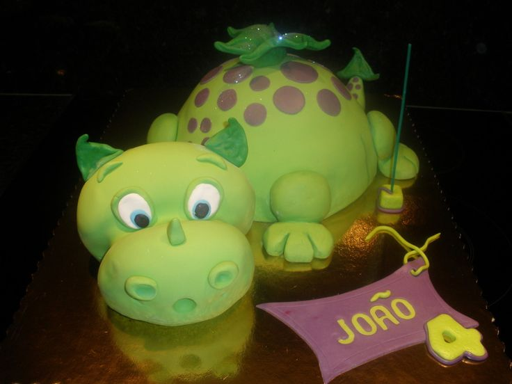 Dragon Cake Based in a debbie brown design.The head and body are chocolate mud cake.The litle boy loved it and i always work for that !
