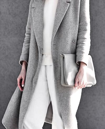Winter white + soft gray