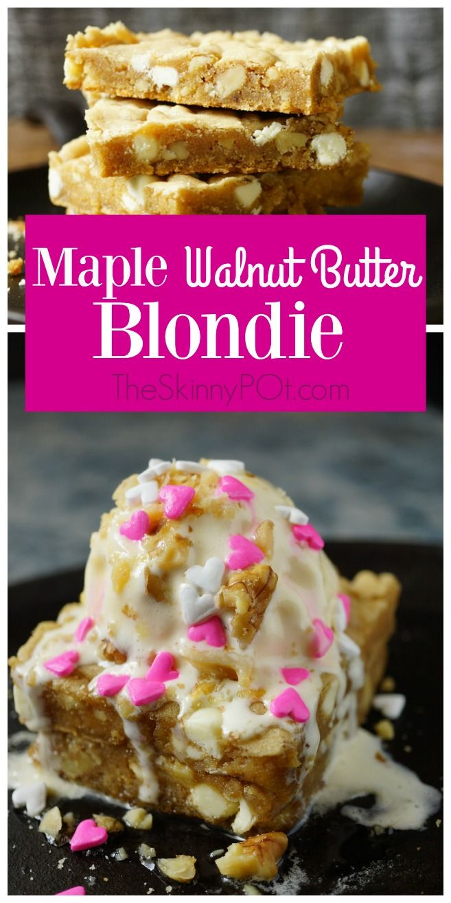 Maple Walnut Blondie. This dessert is your great downfall. An easy ...