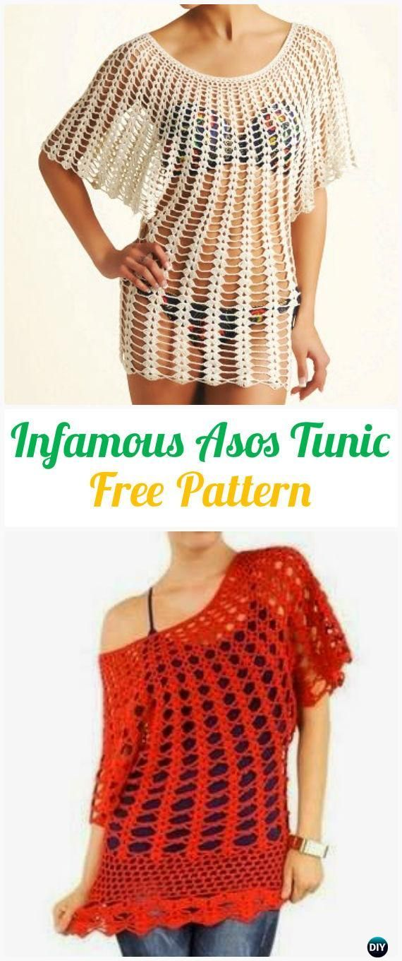 Free Crochet Patterns For Tunic Tops : Crochet Women Pullover Sweater Free Patterns [Tops ...