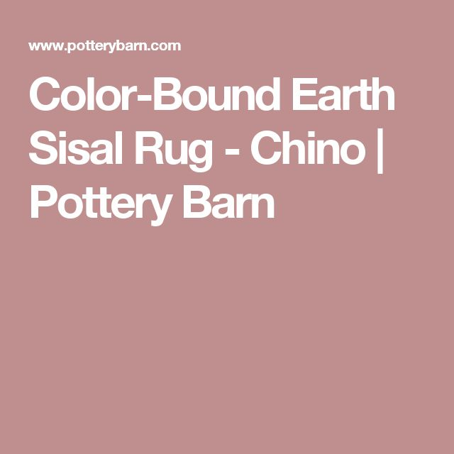 Color-Bound Earth Sisal Rug - Chino | Pottery Barn