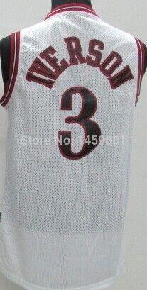 Купить товар#3 аллен айверсон мужская черный / белый новый ткани баскетбол джерси, классика джерси, самое лучшее качество, вышивка логотипов, может смешать заказ в категории Майки спортивныена AliExpress.   Добро пожаловать в мой магазин  Мы принимаем смешанный продукт в порядке.  Когда вы покупаете, пожалуйста, сообщите на