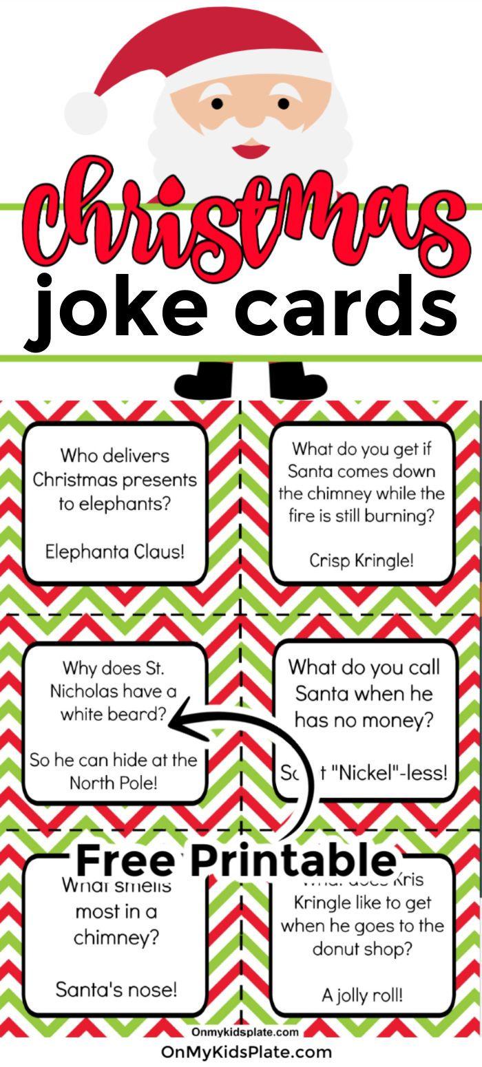 Printable Christmas Joke Cards For Kids Christmas Jokes Christmas Jokes For Kids Funny Christmas Jokes