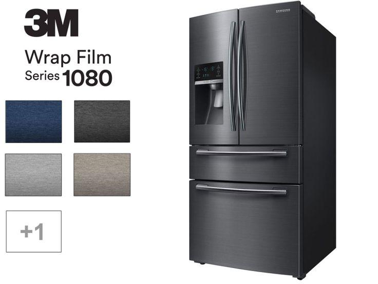 3m Brushed Metal Vinyl Refrigerator Wrap Refrigerator Wraps Vinyl Wrap Kitchen Fridge Makeover