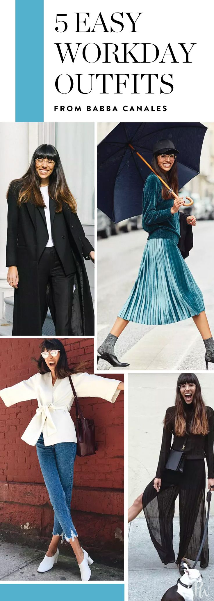 Here, a week's worth of workwear uniforms inspired by Babba to take you from Monday to Friday in style. Get all the work outfit ideas here. #workoutfits #workoutfitideas #outfitideas #fashion