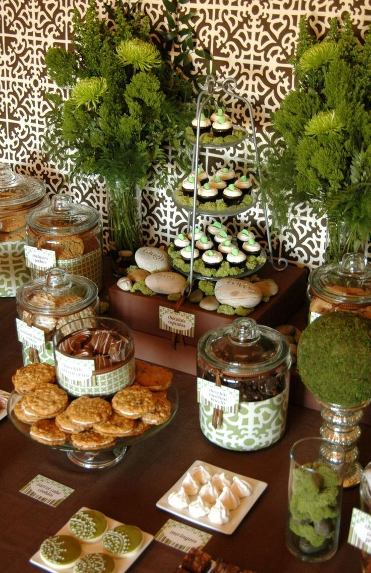 Forest Chic party for treats & sweets... love the coordinating papers on the jars...
