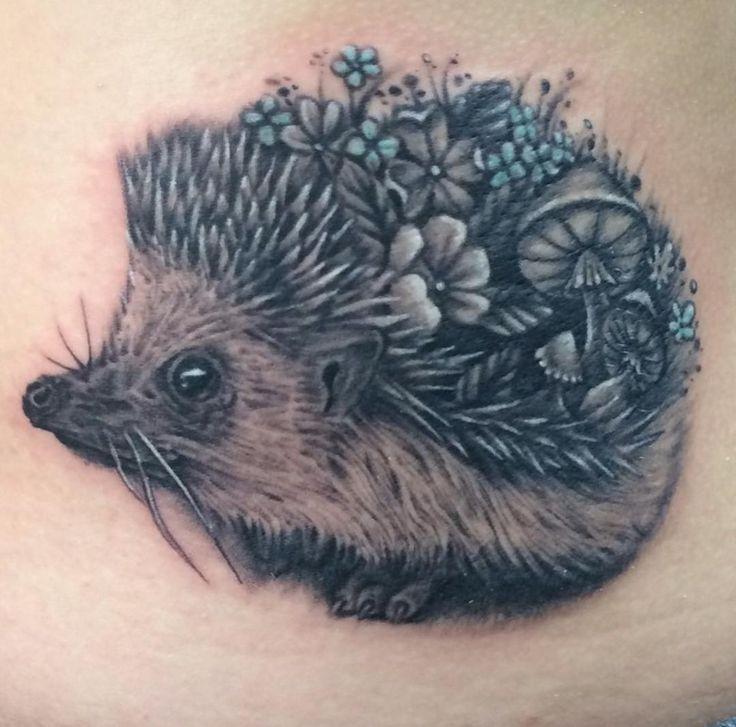 Floral Hedgehog by Noel Michel