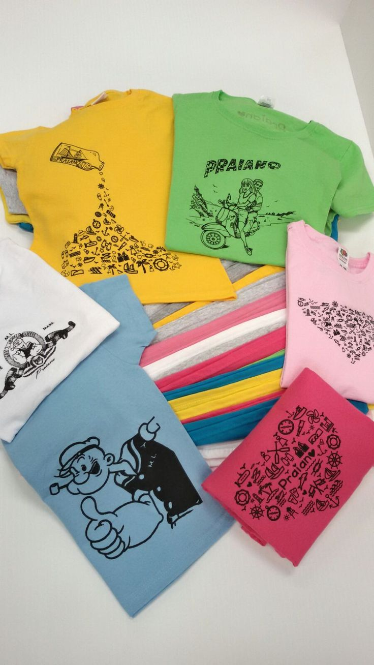 #tshirt stampate #praiano 100% cotone #fruitoftheloom