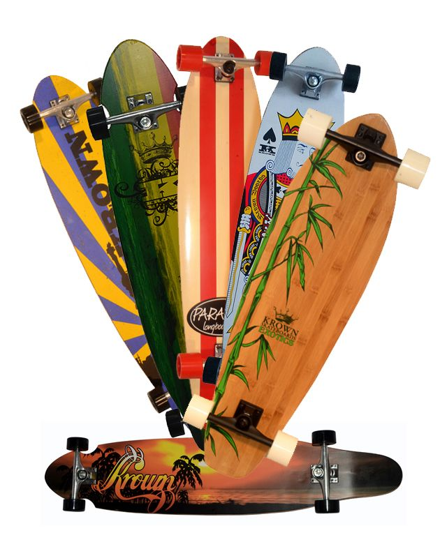 Longboards von Paradise, Krown, Globe