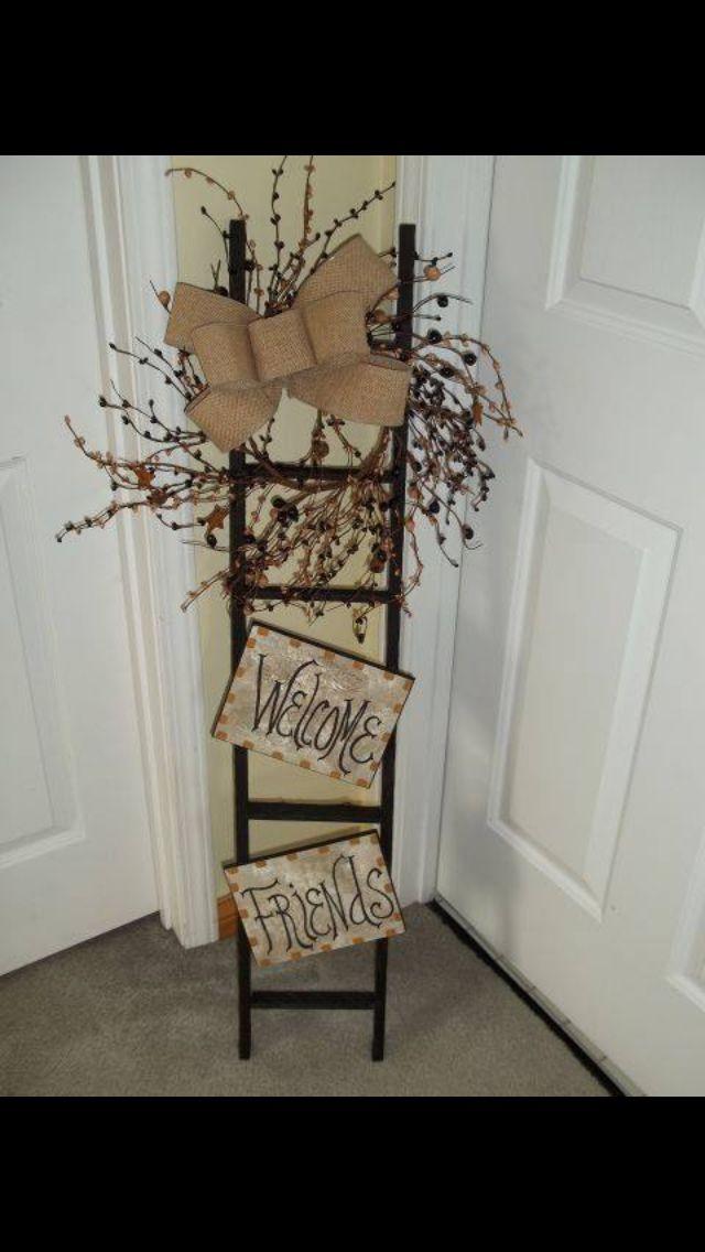 Idea for my season ladder. Like the wreath.