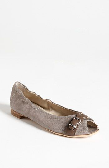 Jeanette: Attilio Giusti Leombruni Peep Toe Flat available at #Nordstrom