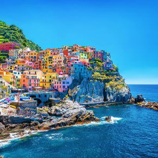 Manarola, Cinque Terre, Italy Clinque Terre is located on the coast of Ligurian Sea in eastern part of Italian Riviera called...
