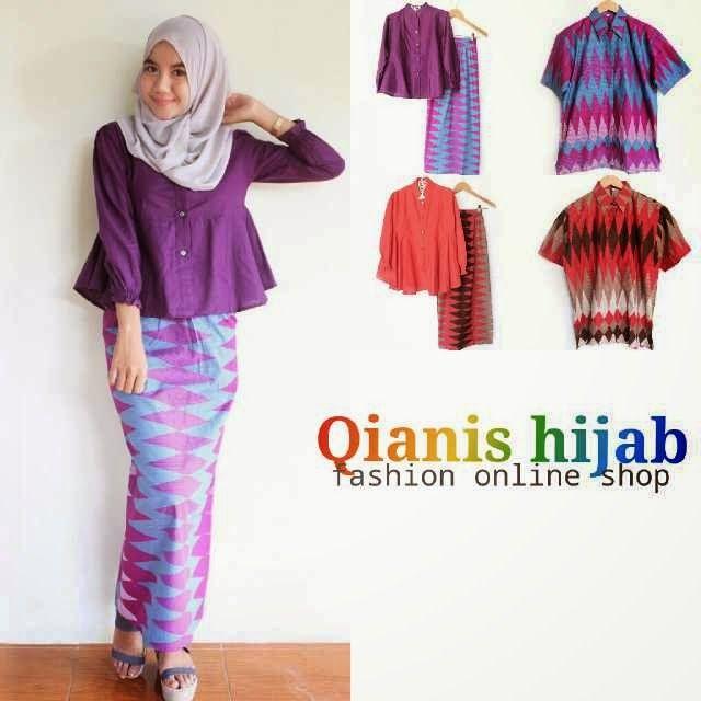 QIANIS HIJAB, Baju Batik, Serambit Batik, Baju Batik solo, hijab batik, baju muslimah, baju batik couple