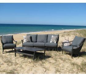 OUTDOOR FURNITURE  'Beachcomber' Aluminium outdoor Couch Setting.