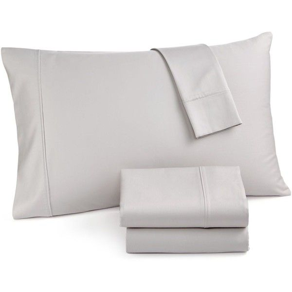 Easton Extra Deep King 4-pc Sheet Sets, 620 Thread Count 100% Cotton, ($110) ❤ liked on Polyvore featuring home, bed & bath, bedding, bed sheets, silver, cal king bed sheet sets, calif king bedding, california king bedding, cotton bed sheet set and cal king bedding