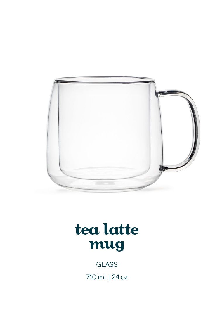 A beautiful double-walled glass mug, in an extra big size for your favourite tea lattes.