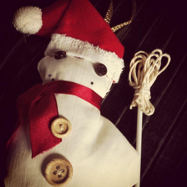 Decorazioni per l'albero di Natale fatte a mano: il pupazzo di neve #faidate #handmade #snowman #christmastree #decoration #Christmas #diy