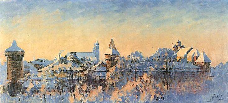 A Winter Landscape - Pejzaż zimowy - Kraków 1897