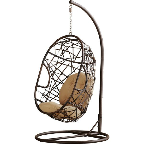 Adelia Egg-Shaped Outdoor Swing Chair with Stand & Reviews   AllModern