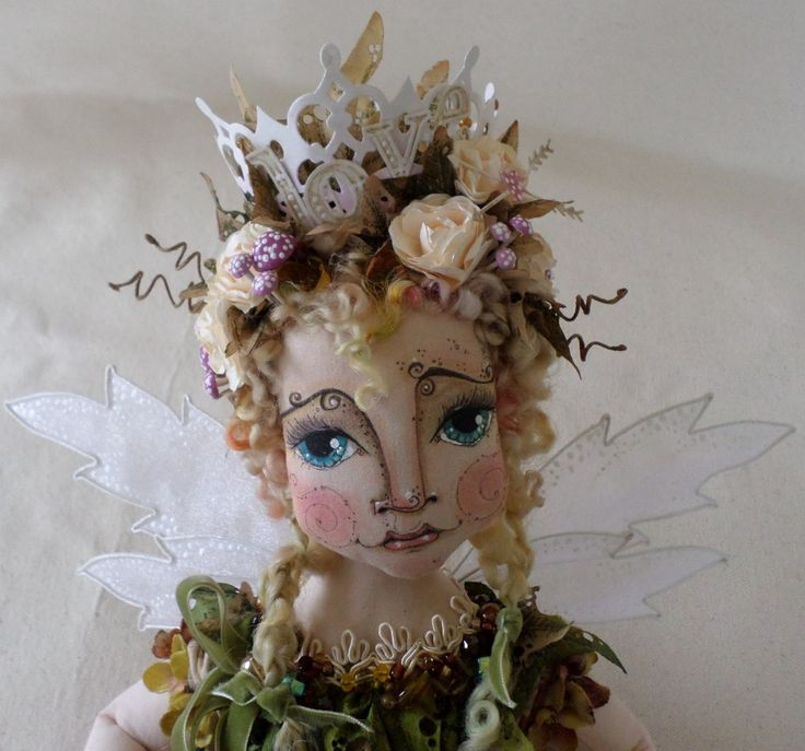 OOAK Fairy Doll - Sprout Merriweather Darlington - Mixed Media Art Doll - Love letter Fairy - Valentine - Paula McGee - Paulas Doll House by paulasdollhouse on Etsy