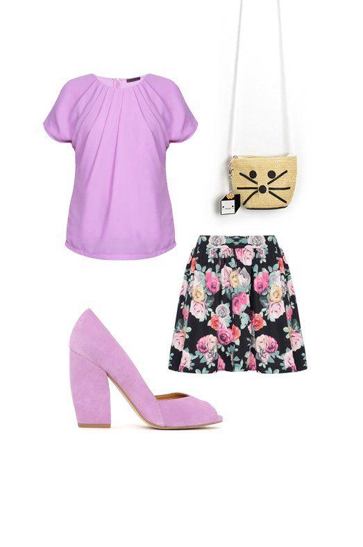Blusa de MUÔTTI, falda de ONLY, zapatos de AGAIN&AGAIN y bolso de KLING.