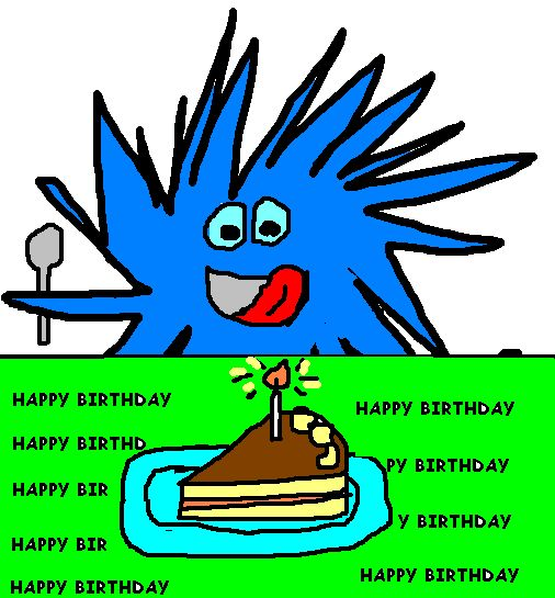 Lino come tarta de cumpleaños.