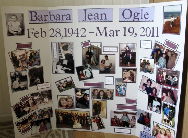 Poster Board Ideas For Funerals : Best images about memorial picture display on pinterest
