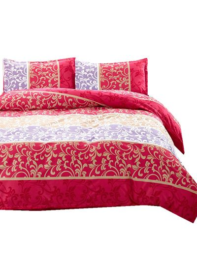 UNIHome textile,Reactive Print 4Pcs bedding sets luxury include Duvet Cover Bed sheet Pillowcase,King Queen Full NEW #Affiliate