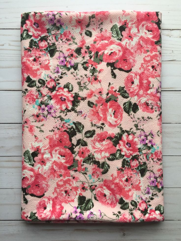 PINK Floral Liverpool Knit Stretch Fabric 4 way stretch BTY By The Yard by SurgeFabricShop on Etsy https://www.etsy.com/listing/494486038/pink-floral-liverpool-knit-stretch