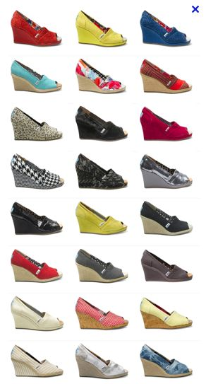 Tom Wedges! :)