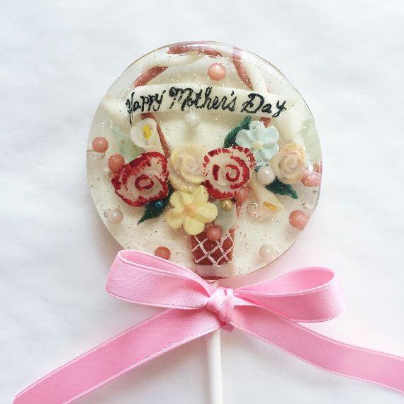 3 Mother's Day Victorian Basket Lollipops