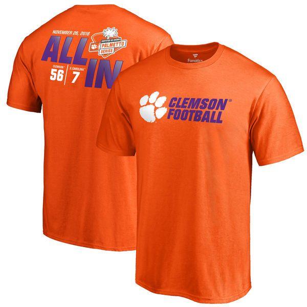 Clemson Tigers vs. South Carolina Gamecocks Fanatics Branded 2016 Score T-Shirt - Orange - $27.99