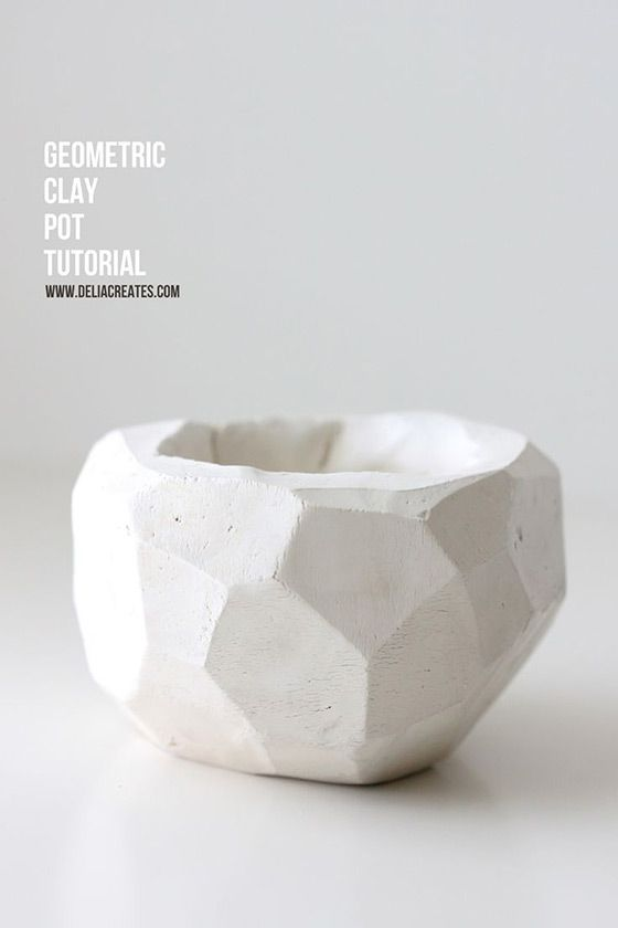 DIY Geometric Polymer Bowl - So cool and super easy!