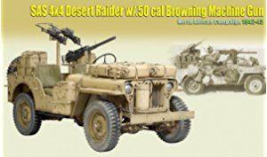 DRF71443 1:6 Dragon SAS 4x4 Desert Raider w/ .50 cal Browning MG North African Campaign 1942-43