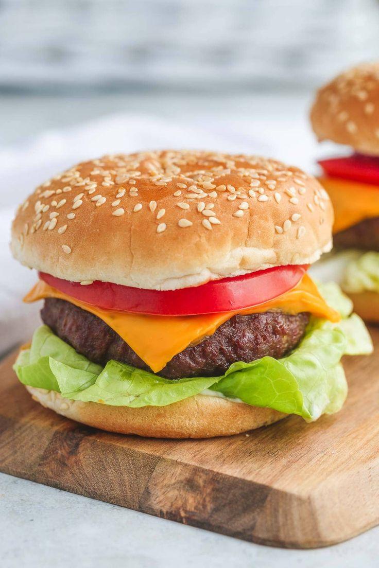 Air Fryer Hamburgers Little Sunny Kitchen in 2020
