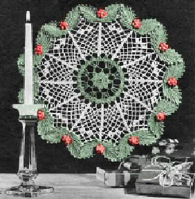 Christmas Doily Free Crochet Pattern - KarensVariety.com