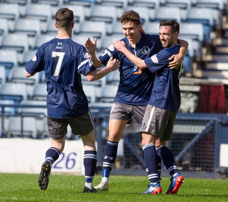 Queen's Park's Dario Zanatta celebrates his goal during the Ladbrokes League One game between Queen's Park and Peterhead.
