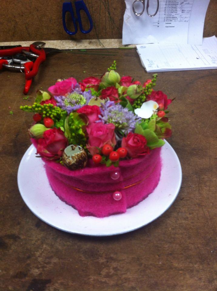 Bloemen taartje