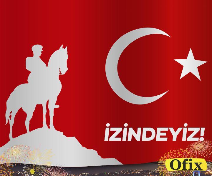 29 Ekim Cumhuriyet Bayramı'mız kutlu olsun!