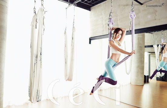 RAINBOW - Koh WooRi #고우리 #우리 for #CéCi #쎄씨 화보 150225 (Flying Yoga '플라잉 요가')