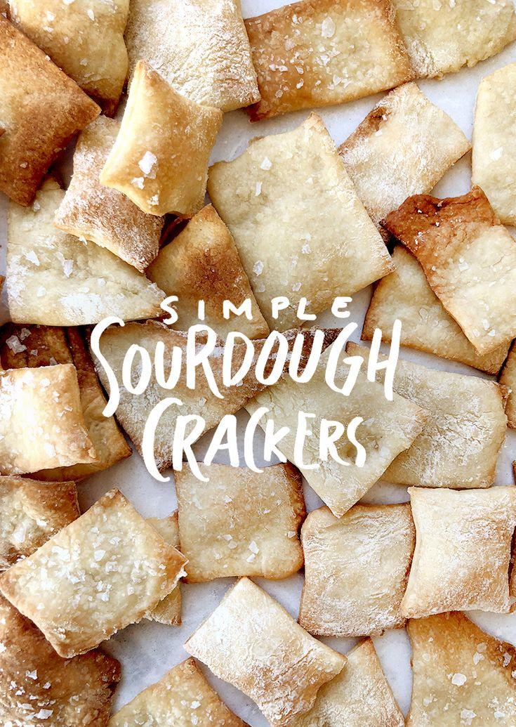 A pantry staple. Recipe for Simple Sourdough Crackers. Save $3 a month on organic cracker boxes by spending 30 minutes making your own each week. /