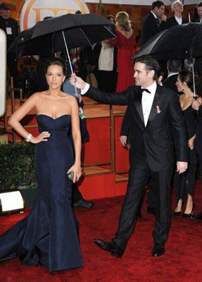 Alicja Bachleda and Colin Farrell