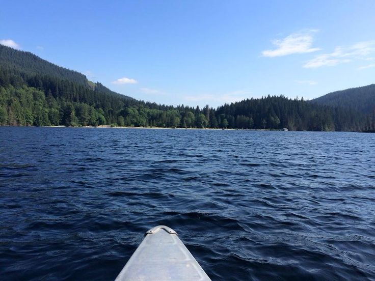 Buntzen Lake, British Columbia...view from our kayak ..what a gorgeous day !!