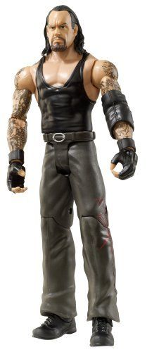 "WWE Undertaker Wrestlemania 21 Figure Series 16 by Mattel. $19.99. From the Manufacturer                World Wrestling Entertainment Figure Series #16: Bring home the action of the WWE. Kids can recreate their favorite matches with these 7"" figures created in Superstar scale. Figure offers extreme articulation, amazing accuracy and authentic details like arm bands and tattoos. This WWE Collection line consists of 72 different figures each year, with a series of ..."
